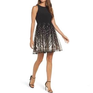 Vince Camuto Sequin Fit and Flare